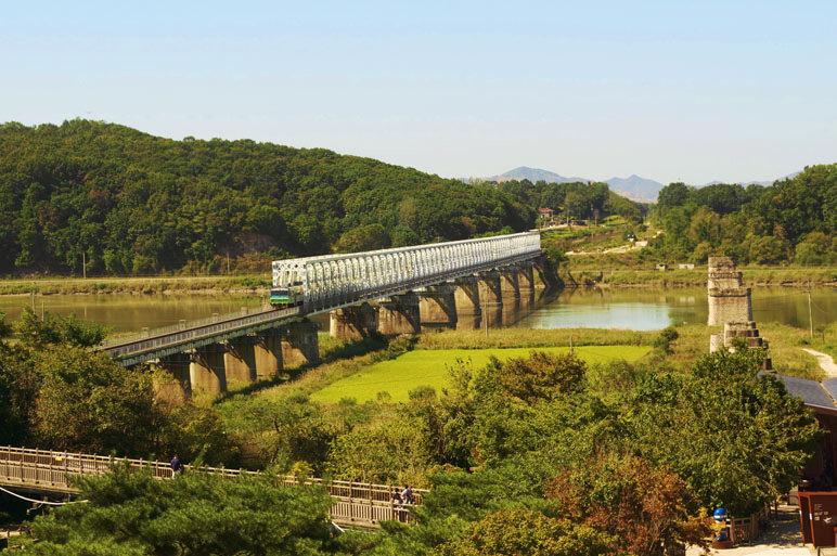 Korean DMZ Demilitarized Zone Freedom Bridge Imjingak Park