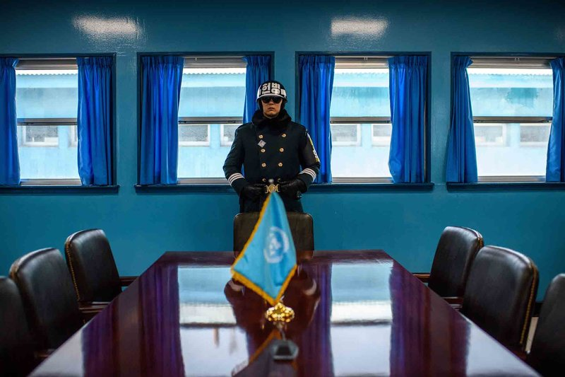 Korean DMZ Demilitarized Zone Joint Security Area JSA Conference Room