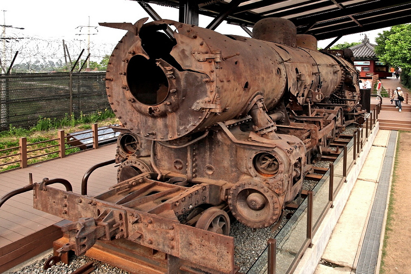 Korean DMZ Demilitarized Zone Locomotive Imjingak Park