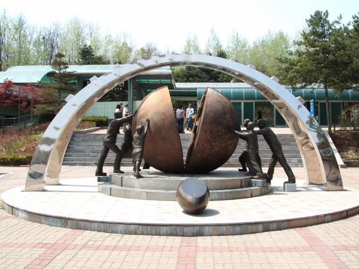 Korean DMZ Demilitarized Zone Peace Statue