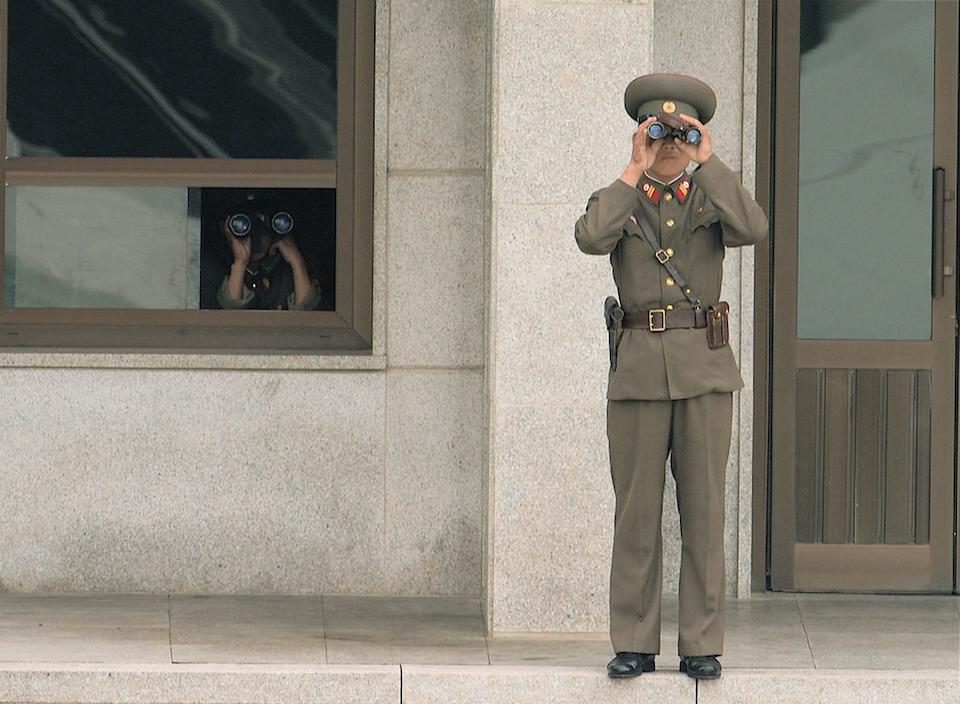 Korean DMZ North Soldiers