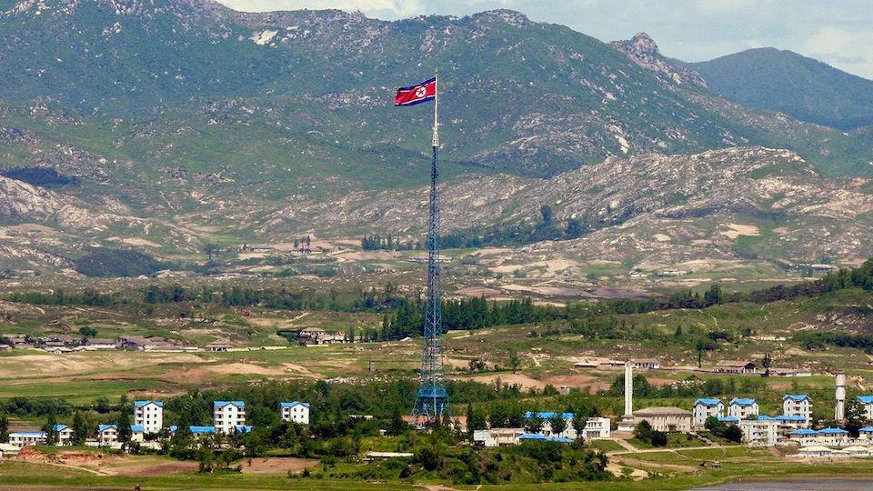 Peace Village View from Korean DMZ Demilitarized Zone Dora Observatory