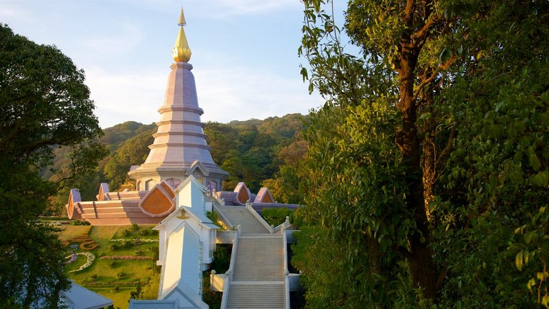 Doi Inthanon National Park featuring a garden and a temple or place of worship