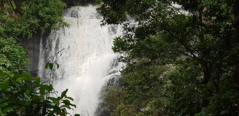 Thundering water of Sirithan Waterfall