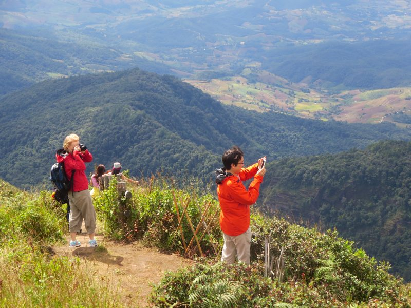 viewpoint on Kiw Mae Pan Trail Doi Inthanon Chiang Mai Trekking