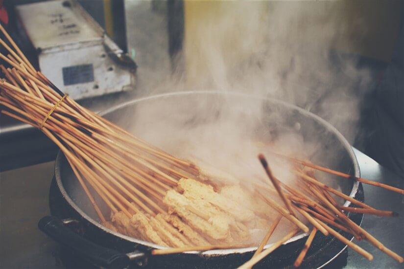 Korean street food eomuk fish cake