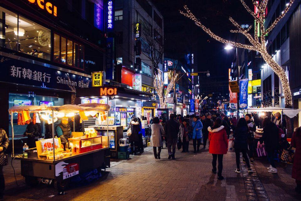 Korean street food myeongdong