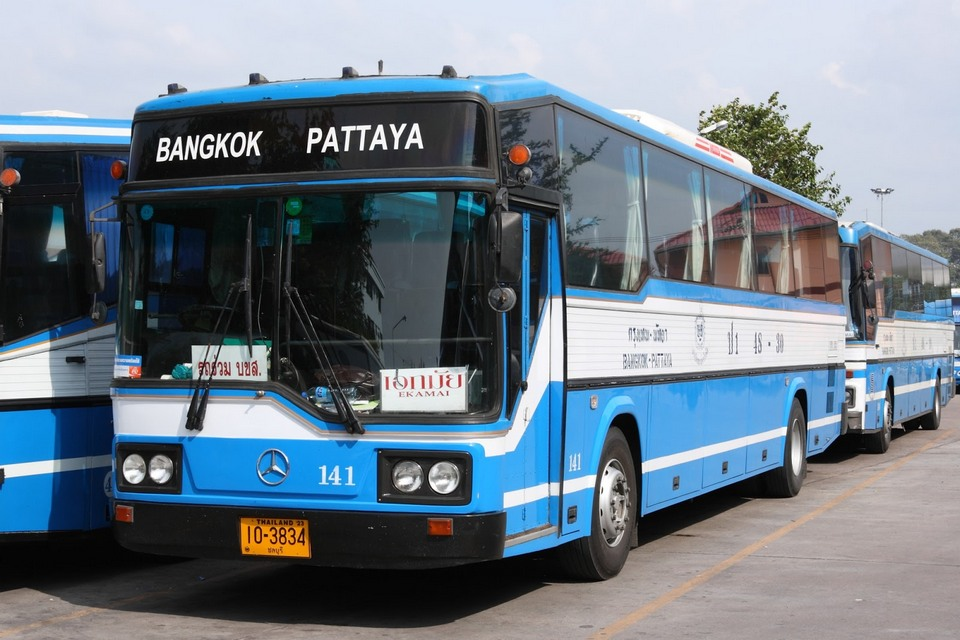 There are many buses from Bangkok to Pattaya, easy to find