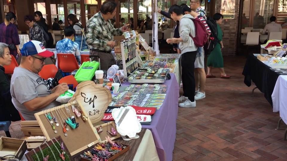 Handmade crafts at the University of Hong Kong