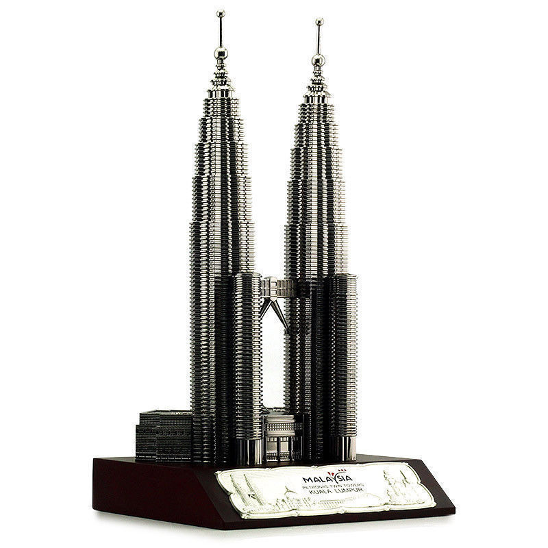 Petronas Twin Towers Asia Metal Souvenir