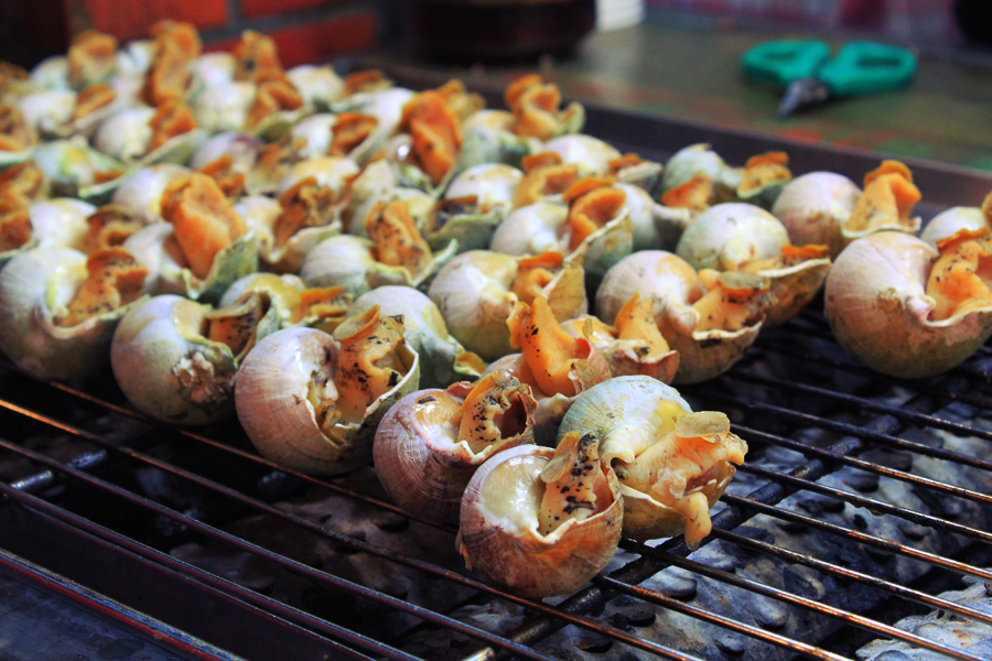 grilled sea snails taipei