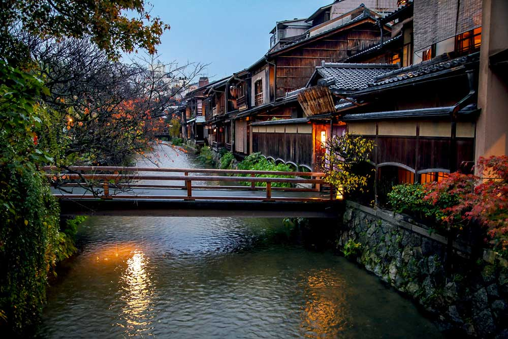 Shirakawa in Gion District, Kyoto, Japan
