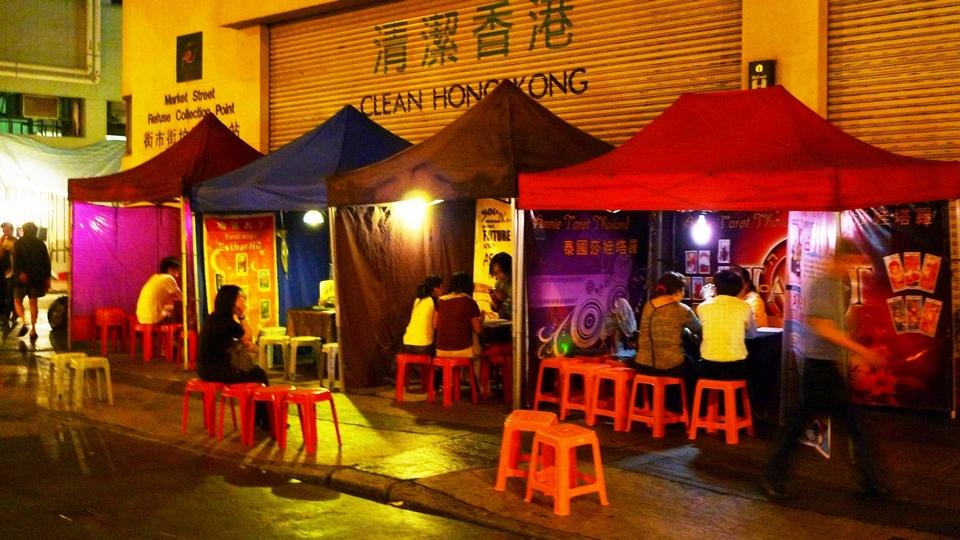 Fortune Teller Stall at Temple Street Market, Hong Kong
