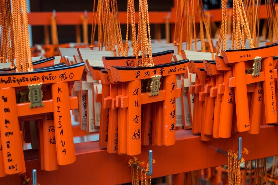 Fushimi-Inari-Shrine torii gate souvenir