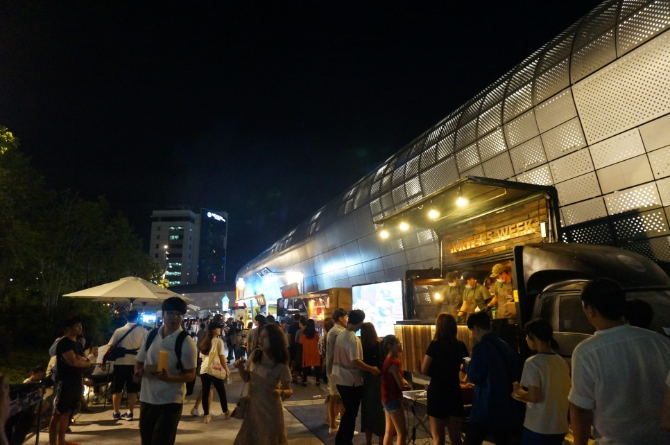 Food stall at DDP, Seoul, Korea