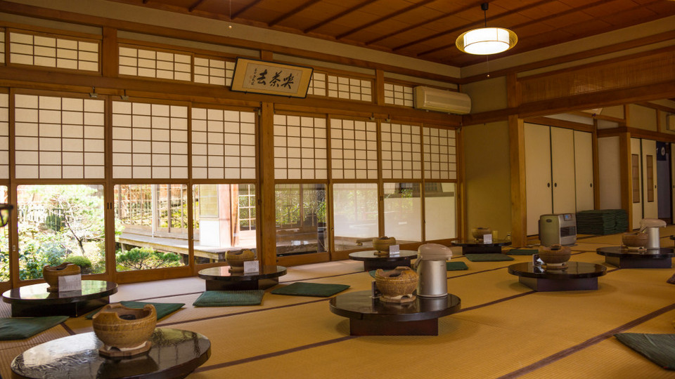 Interior of the Yudofu Restaurant at Ryoanji Zen Temple, Kyoto, Japan