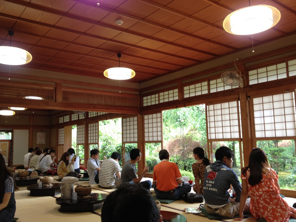 Yudofu Restaurant in Ryoanji Zen Temple, Kyoto, Japan
