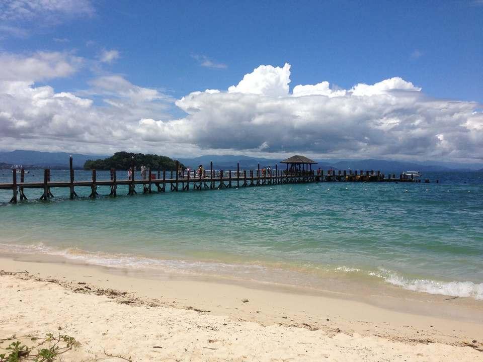 Pier off Manukan Island