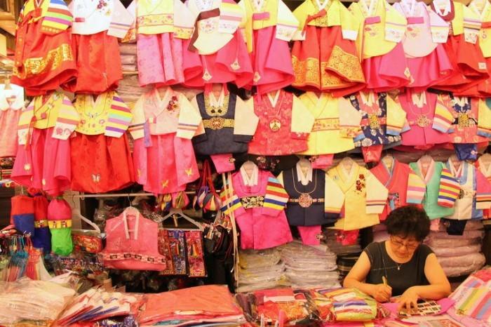 Traditional Hanbok Shop in Gwangchang Market