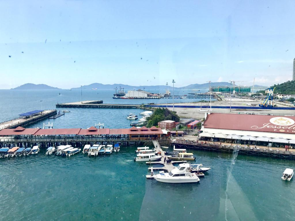 Aerial view Jesselton Jesselton Point Waterfront