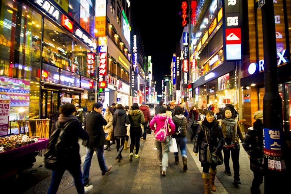 Myeongdong night market,