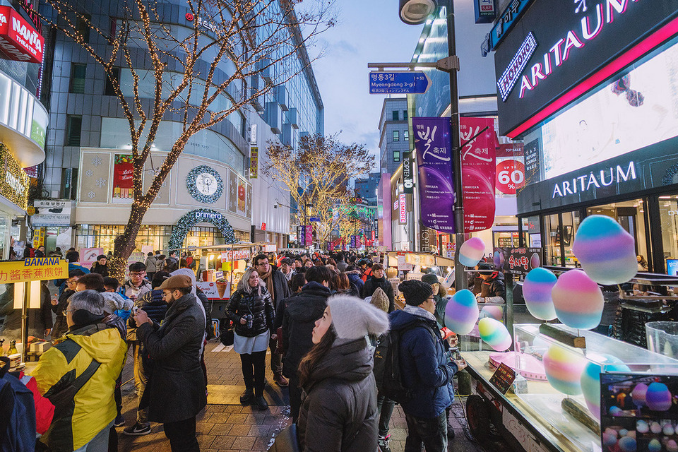 Myeongdong Foto: top shopping places in seoul blog.