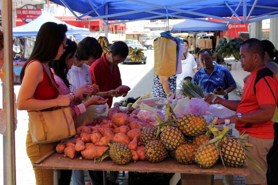 Fresh fruit - Gaya Street Sunday Market Kota Kinabalu Malaysia