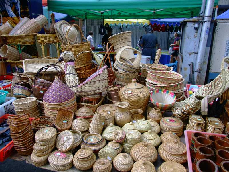 Weaved Baskets on Gaya street Market