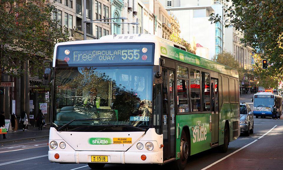 free sydney bus 555