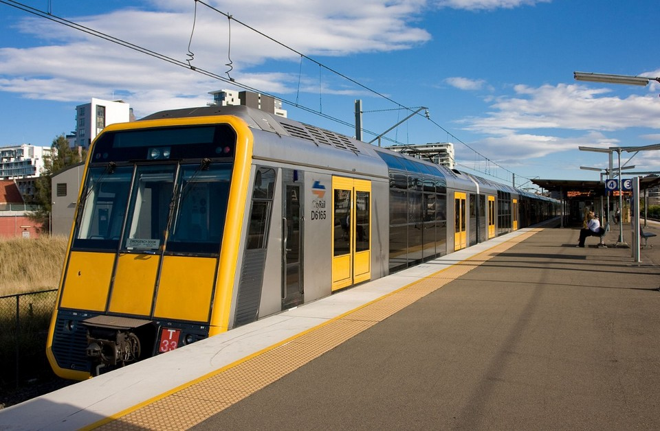 nsw train at station