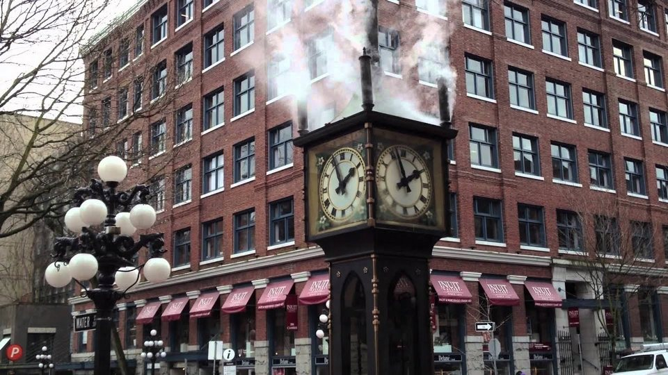 Steam Powered Clock in Gas Town Vancouver, BC