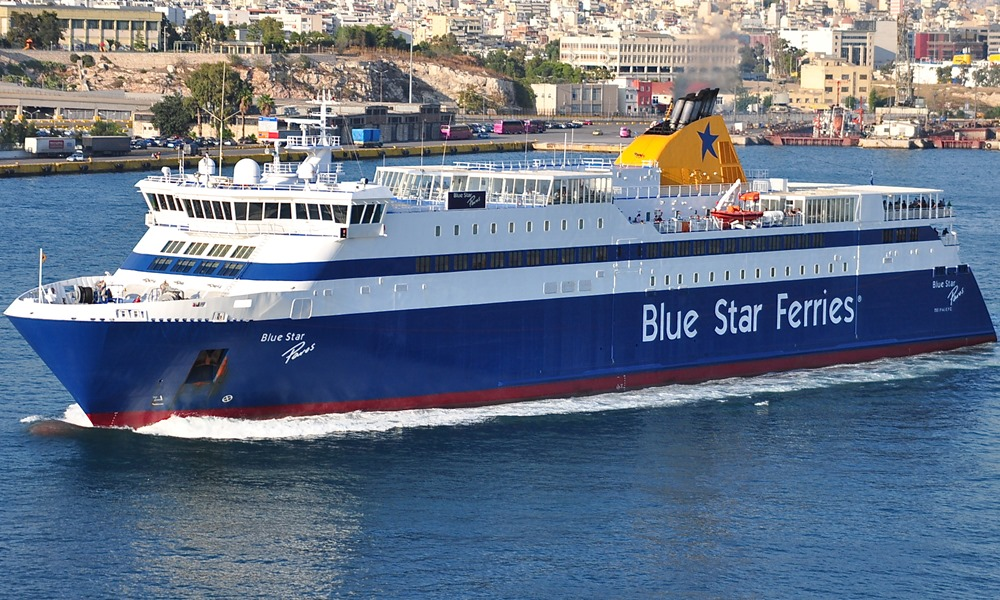 Blue Star Paros ferry cruise ship