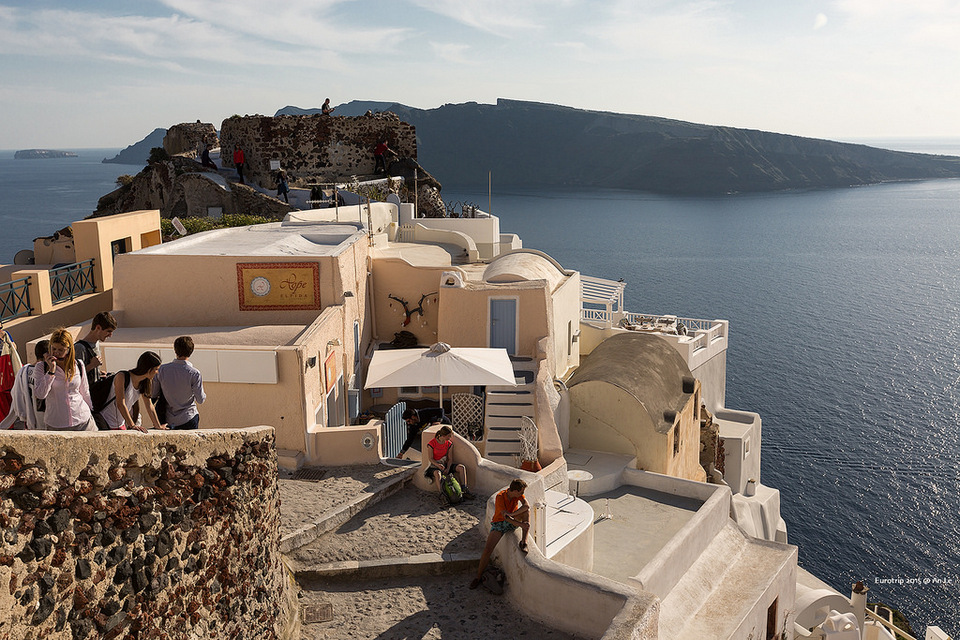 Location to watch the sunset in Oia