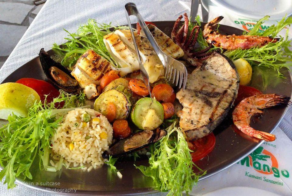 santorini seafood