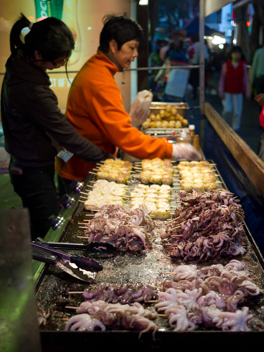 Grilled squid stand