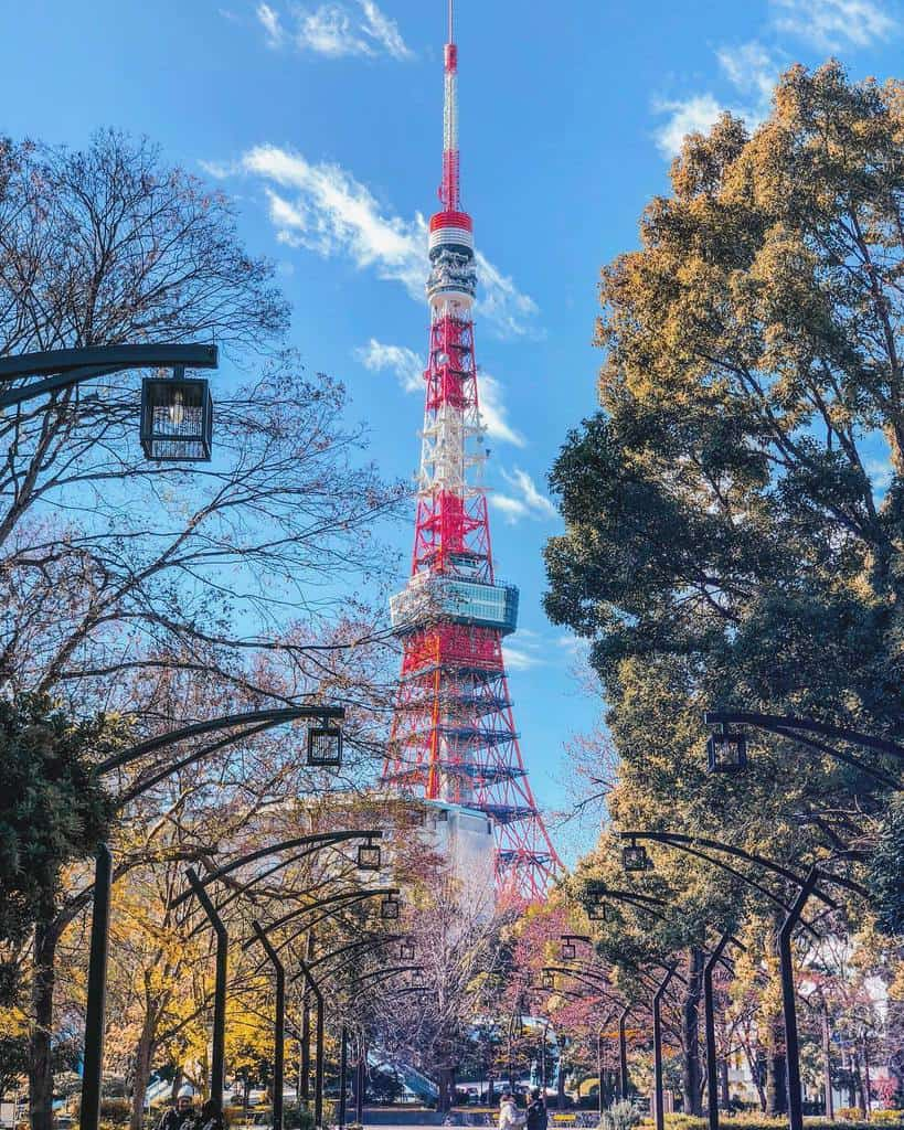 Tokyo Tower is the tallest tower in the city when completed in 1958.