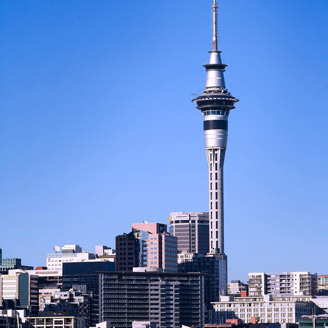 Sky Tower is 328 meters high and is New Zealand's tallest building.