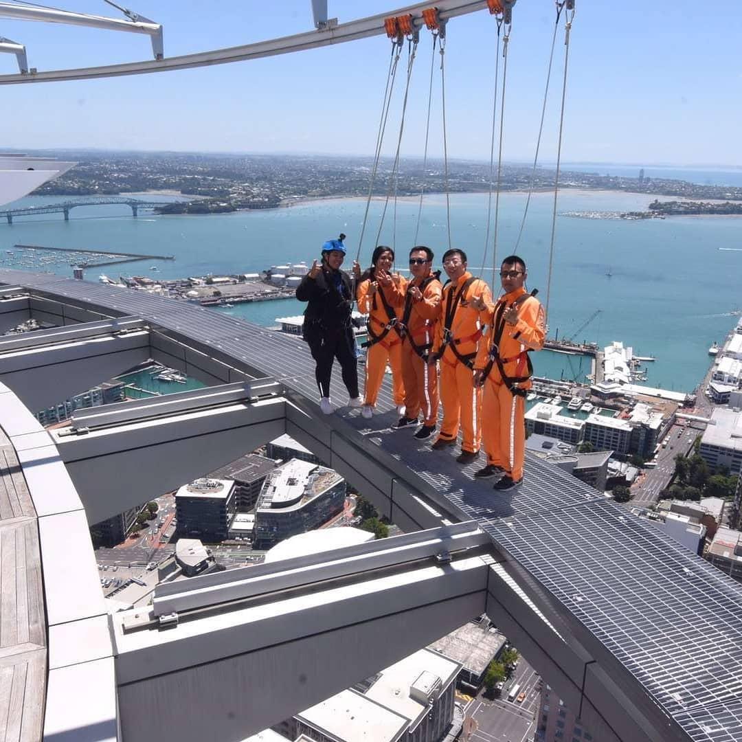Skywalk – 192 meters high walk at the Sky Tower.