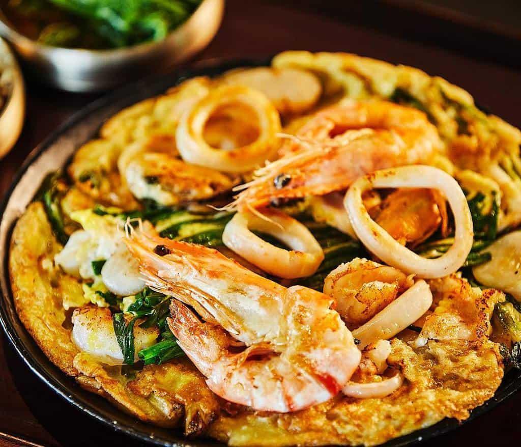 Haemul Pajeon (Korean Seafood Scallion Pancake)