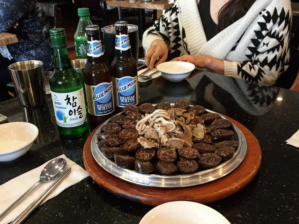 The Korean blood sausage Sundae.| what to eat in seoul blog