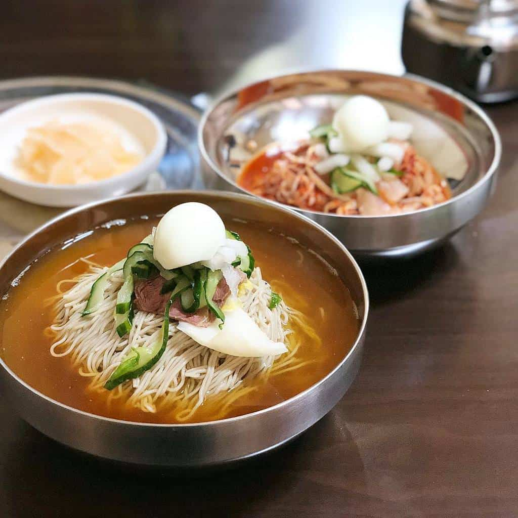 Naengmyeon (Cold Noodle Soup)