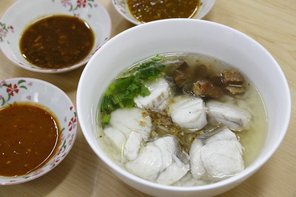 best dish at Boiled rice soup with sea bass.