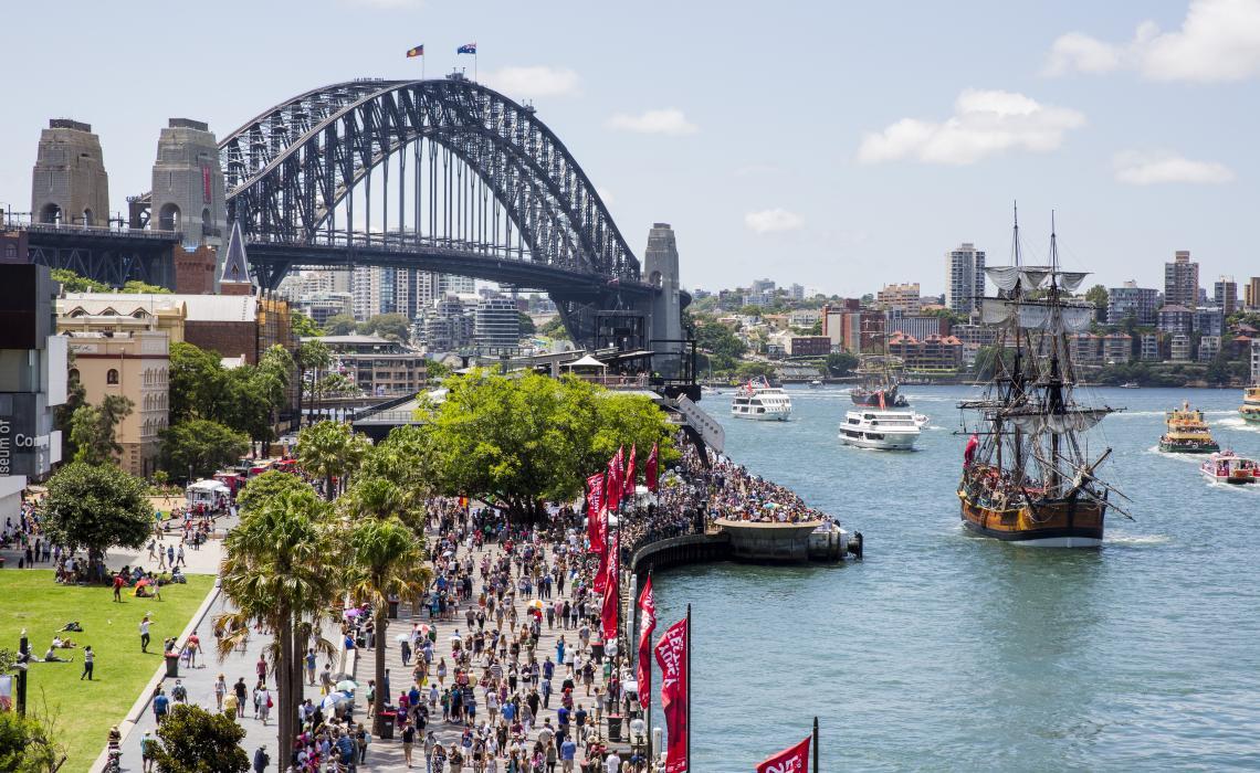 Sydney Foreshore at Circular Quay on Australia Day 2016