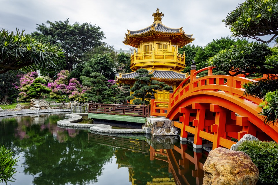 Nan Lian Garden has architecture in the Tang Dynasty, China.