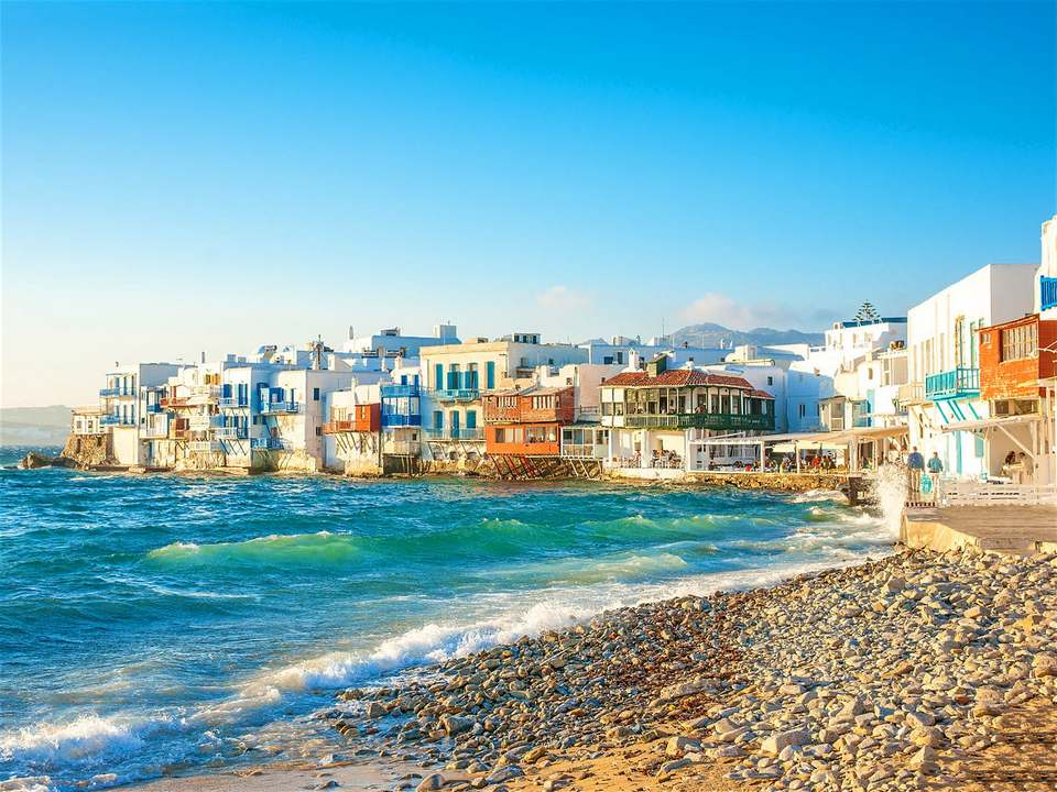 The picturesque Little Venice bay in Mykonos Town © imagIN.gr photography Shutterstock