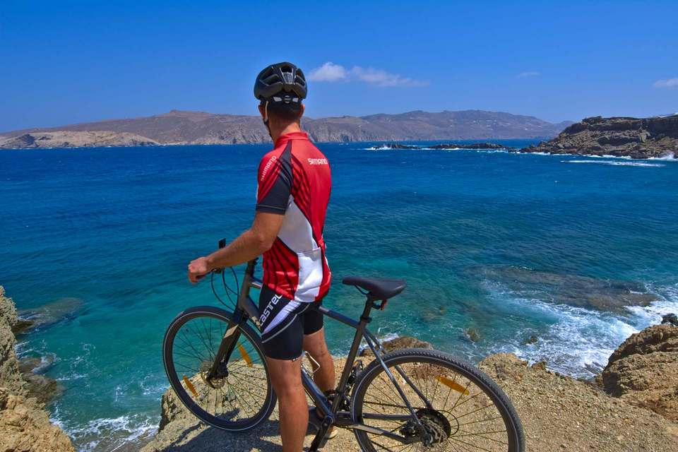 cycling around mykonos
