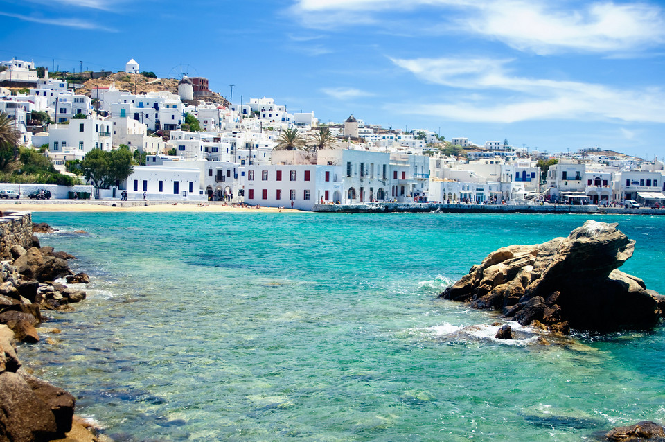 chora town mykonos greece