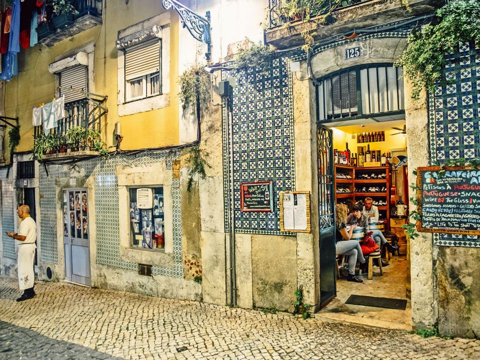 Lisbon's laid-back wine bars can be found on many of the city's cobbled streets