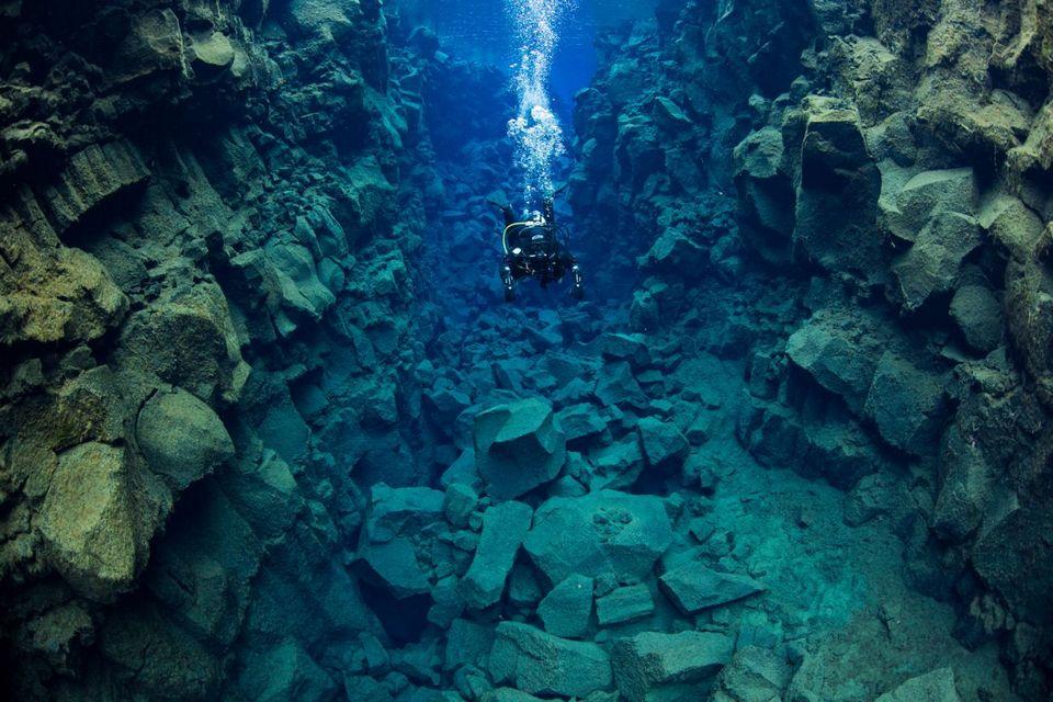 diving in Thingvellir National Park