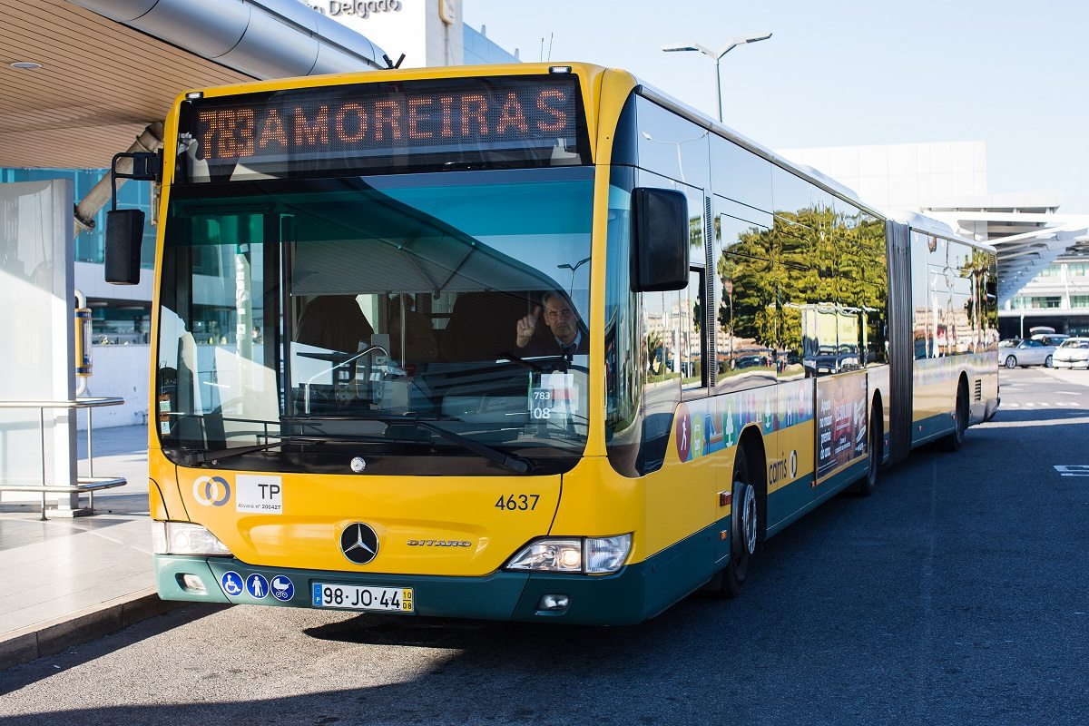 Lisbon airport City bus line 783